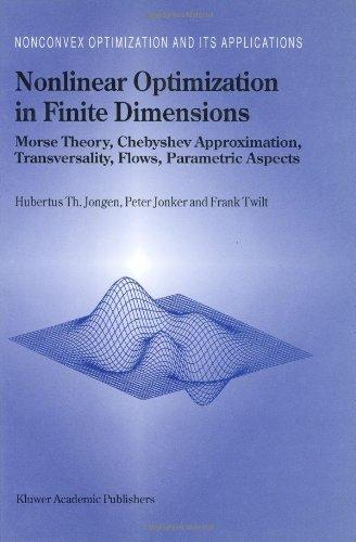 Nonlinear Optimization in Finite Dimensions: Morse Theory, Chebyshev Approximation, Transversality, Flows, Parametric Aspects