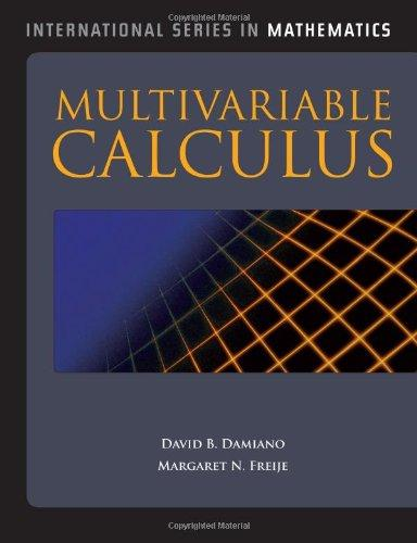 Multivariable Calculus (International Series in Mathematics)