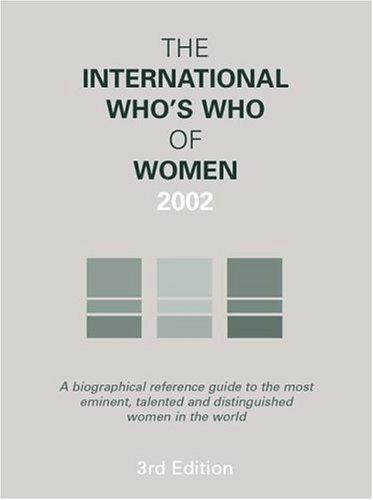 The International Who's Who of Women 2002